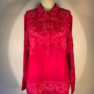 Johnny Was medievalist Henley blouse size S NWT